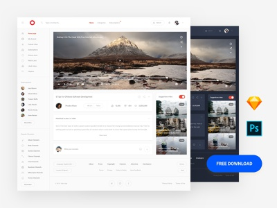 Free Template psd ui8 interface admin dashboard base elements style guide symbols xd photoshop sketch ux kit ui kit download template ux ui