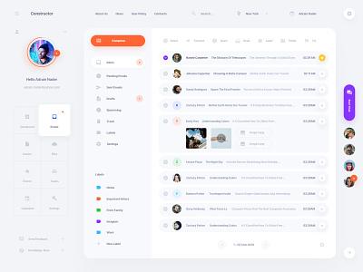 Mail App Concept ui kit interface web ui sketch ux mailer mail