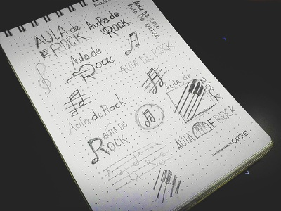 Aula De Rock Sketch mark symbol logo brand sketch school music rock de aula