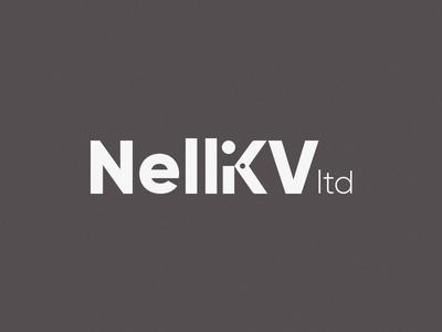 NelliKV clipper shear sharp knife machine scissors symbol mark logotype design logo