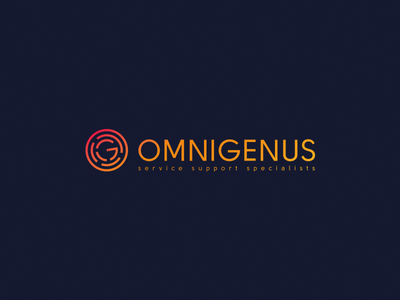 Omnigenus development web support service omnigenus monogram symbol mark design logo