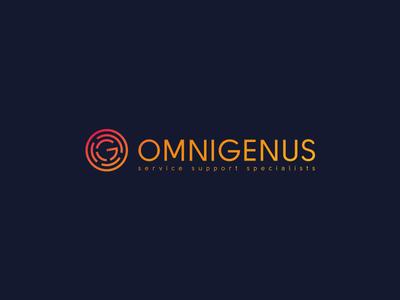 Omnigenus development web support service omnigenus monogram symbol mark design logo