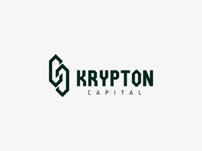 KRYPTON Capital mark symbol logotype logo fund investment blockchain capital chain crystal kryptonite krypton