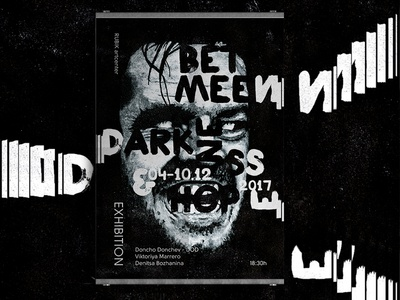 Between Darkness and Hope letters typography canvas black painting drawing poster exhibition
