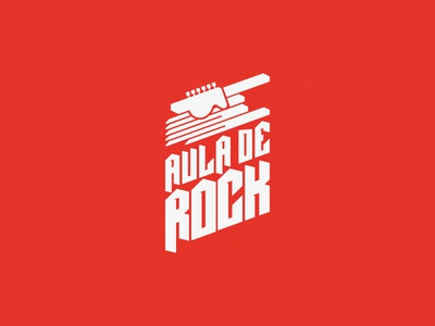 Aula De Rock youth school music headstock strings hand metal rock aula logotype mark logo