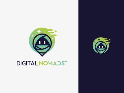 Digital Nomads platform freelance nomad design digital brand mark logotype logo