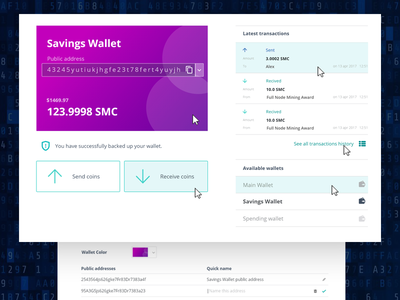 blockchain wallet wallet blockchain web design ui