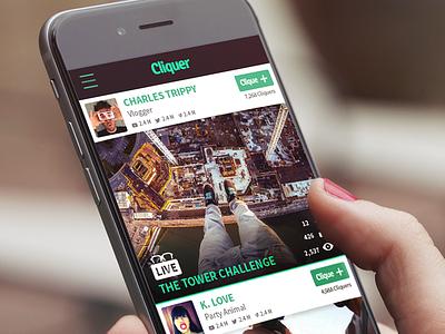 Cliquer app design design app mobile
