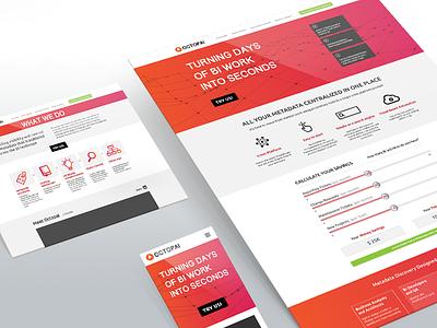 Octopai website design web