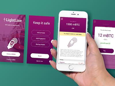 Lightline NFC Wallet App wallet bitcoin app