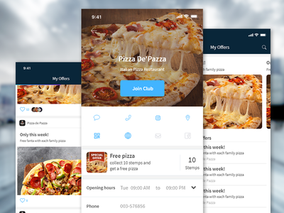 Pizza app ui app pizza