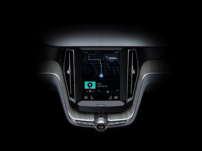 Android Automotive OS - Navigation Concept navigation gps music player dashboard volvo uiux ui concept design concept os automotive android