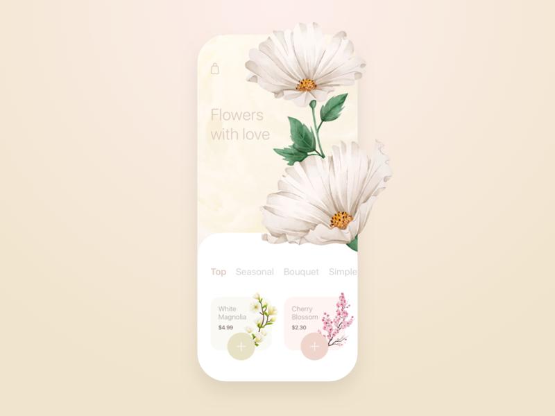 Flower Shop Mobile app concept