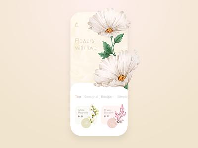 Flower Shop Mobile app concept colors pastel nature shop flowers mobile concept design ux ui ios android