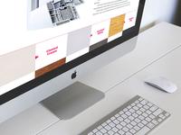 Color palette for website