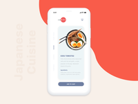 Japanese Cuisine - Food ordering app concept