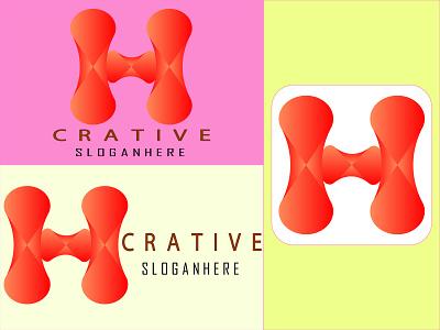 h 3d abstract modern letter logo app icon vector social media campaign logo design illustrator graphic design flyer logo illustration design brochure business card branding banner abstract logo 3d