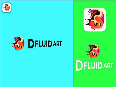 d fluid art letter logo vector d fluid art fluid art animation motion graphics graphic design logo design illustration business card brochure branding banner abstract logo 3d