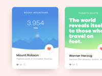 Travel App Cards