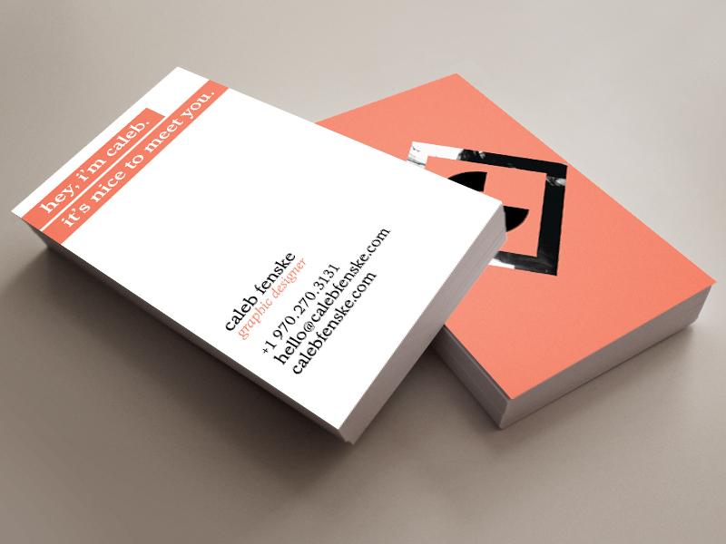 business card mockup by Caleb Fenske - Dribbble