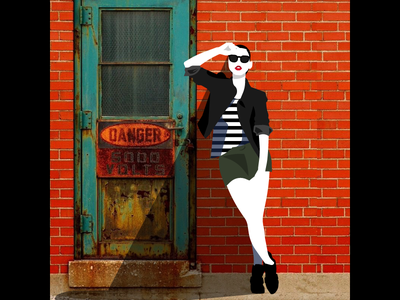 In The Alleys - Photoillustration vector photoillustration illustration fashion