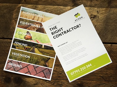 A5 Flyer for Agricultural Contractor