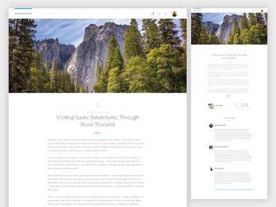 Travel Blog Concept