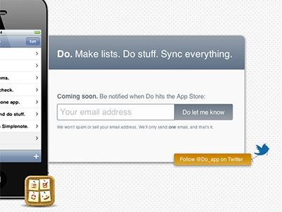 Do. Coming Soon. do iphone app do-app list todo listaryapp