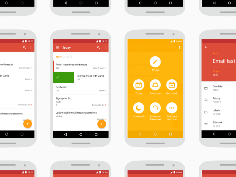 Todoist Material Screens material design android todoist