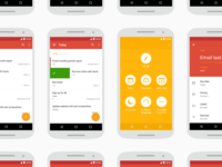 Todoist Material Screens