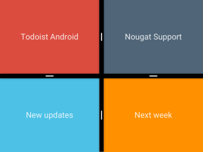 New updates coming soon to our Android app nougat teaser android todoist