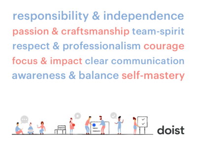Doist Company Values illustration hiring company values twist team remote values todoist doist