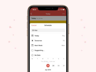 New Todoist Scheduler – iOS