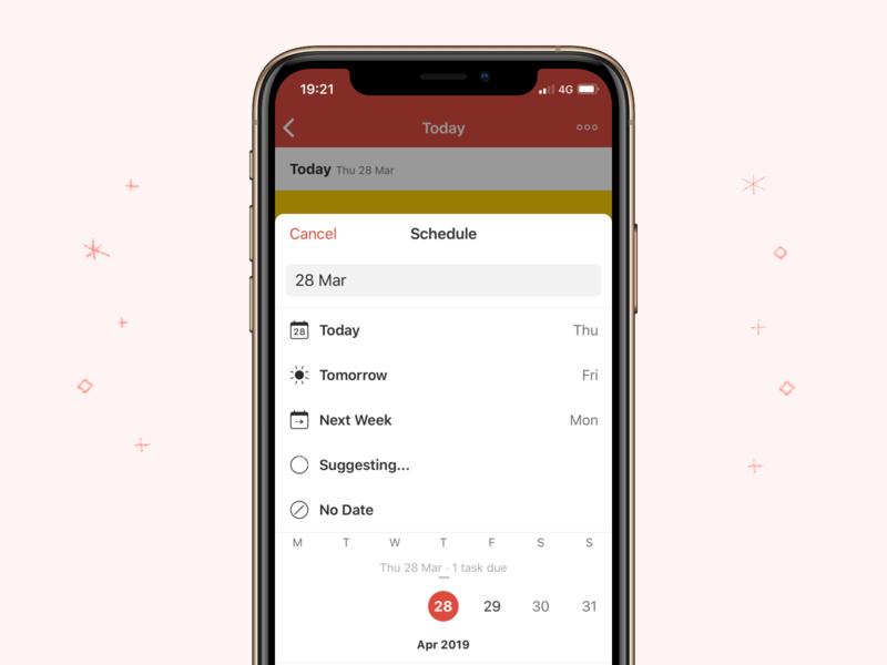 New Todoist Scheduler – iOS by Ana Ferreira for Doist on