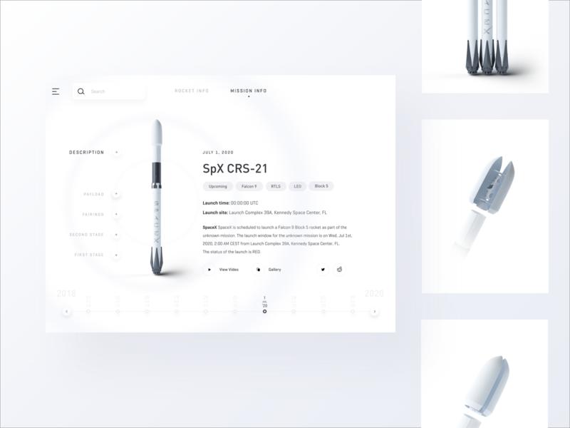 SpaceX App mobile app ios ui 3d rocket spacex 10clouds