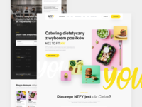 NTFY - Diet catering - Landing page