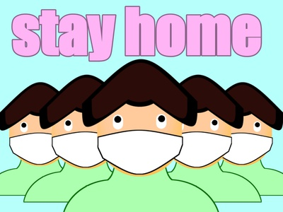 Gane-stay home stay safe motion graphics graphic design animation