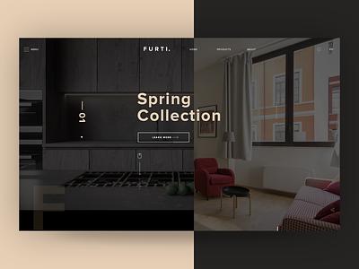 Furniture Store Web Hero app icon ui ux vector typography branding illustration design landing page furniture app layout design website design logo ui ux web design