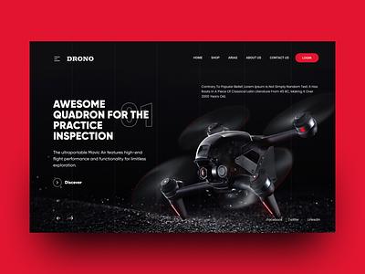 Drone Shop Web Hero Design branding ui illustration design furniture app landing page shopping web shop website web web design