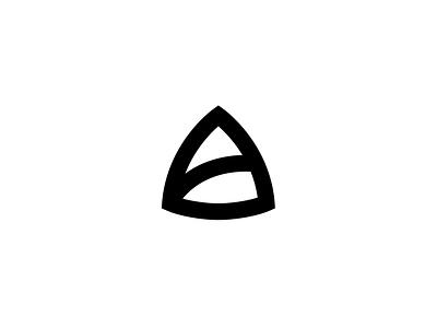 A black a letter mark symbol logo illustration vector exploration icon