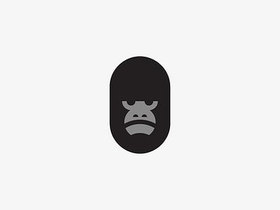 Gorilla head vector branding illustration icon symbol mark logo animal monkey nature gorilla
