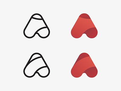 A exploration illustration gradient vector branding logo icon symbol mark letter a