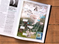 Himalaya Map Illustration for BBC World Histories Magazine II himalaya expedition geography bbc hand drawn type map artist illustration art illustrations illustration handlettering historical map bhutan british tibetan tibet historical mapping map art map hand drawn