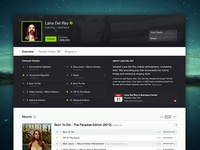 Spotify iOS 7 - Artist Page Refresh