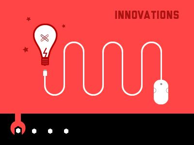 Slider WIP innovation slider light bulb wrench mouse red