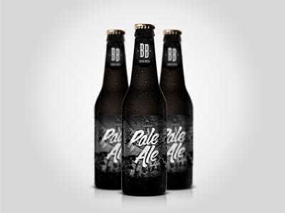 Bronx Brew Pale Ale bronx beer brewery logo barrels brew bottle packaging