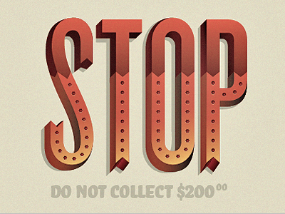 STOP  stop knockout typography experimental