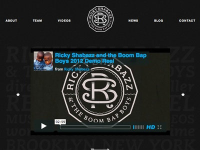 Rickyshabazz.com Launched wordpress monogram music videos music hiphop