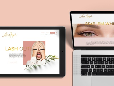 Lauren Abagale Lash Website beauty gold animation parallax pink eyelash extensions eyelashes eyelash webdevelopment webdesign website