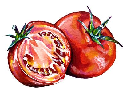 Pump+Rye Pump Up the Jam - Roasted Tomato fruit label design food packaging food paint tomato jam red painting custom illustration jar screen printing label illustration packaging